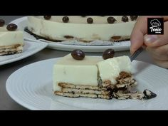 Tarta fría de chocolate blanco
