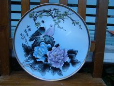 FRANKLIN MINT HAND PAINTED JAPANESE BIRDS FLOWERS SIGNED M . AMIYE SEASONS PLATE