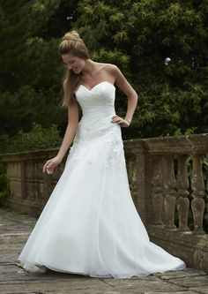 d60ae16339ab Alberta ~ Romantica Bridal 2015 ivory or white, organza, zip back 2015 Wedding  Dresses