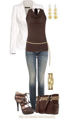 """American West Tote & Gold Chain Belt"" by casuality on Polyvore"