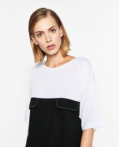 Image 2 of TWO-TONE DRESS from Zara