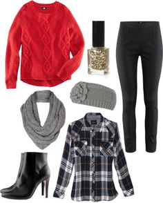 winter outfit! #winterwear #sweater #plaid #outfit #fashion