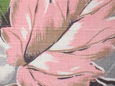 VTG BOLD MCM MOD ATOMIC LEAF LEAVES BARKCLOTH FABRIC Chartreuse PINK Gray 4 YDS