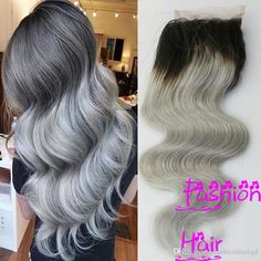 Cheap Ombre Lace Closure 1b/Grey Brazilian Body Wave Virgin Hair 7a Grade Peruvian Indian Malaysian Remy Hair Two Tone 1b Silver Top Closure From Fashionhairqd, $26.39 | Dhgate.Com