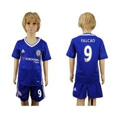 Chelsea Trøje Børn 16-17 #Falcao 9 Hjemmebanetrøje Kort ærmer.199,62KR.shirtshopservice@gmail.com