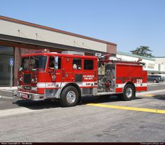 SeagraveMarauderPumperLos Angeles Fire DepartmentEmergency Apparatus Fire Truck Photo