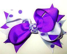 Purple Polka Dot Bow-wholesale polka dot hair bow for girls and kids Easy Hair Bows, Making Hair Bows, Girl Hair Bows, Girls Bows, Bow Making, Girly Girls, Hair Accessories Holder, Bow Accessories, Hair Bow Tutorial