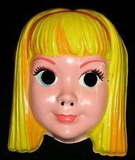 1960s Vintage SKIPPER Halloween Mask - BARBIE's Little Sister