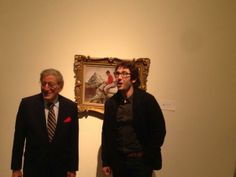 "'Tried to take a photo of this AJ Munnings at Sothebys and got photobombed by Josh Groban & Tonly Bennett."" via Retwetted Josh Groban Twitter"