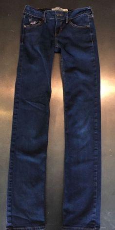 Hollister Skinny Jeans Size 0 R Dark Wash 24x30  | eBay