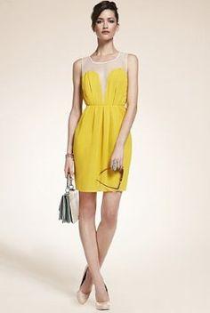 Amazing sheer statement dress form M