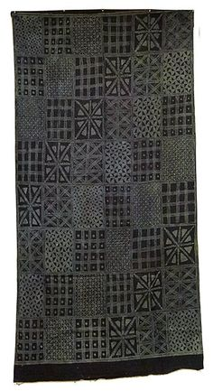 "Africa | Adire ""Ibadadun"" Textile from the Yoruba people of Nigeria"