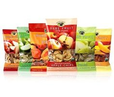 Luv4TheSon Christian Store and more... by Amazon - Bare Fruit 100% Organic Bake-Dried Snacks, Sample Box, 63 Grams 6 count Variety Pack