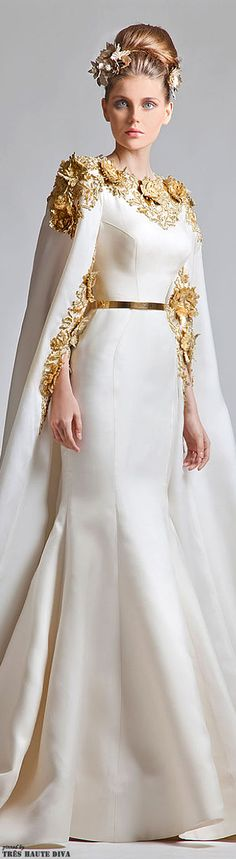Elegant Haute Couture Wedding Dresses For Your Luxurious Wedding Couture Fashion, Runway Fashion, High Fashion, Pretty Dresses, Beautiful Dresses, Dress Vestidos, Zuhair Murad, Elie Saab, Dream Dress