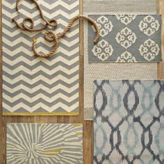Yummy chevron // Making a trip downtown to West Elm this weekend to get that rug in the top left corner.