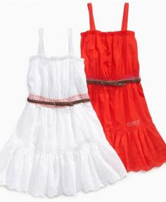 Guess Kids Dress, Girls Smocked Belted Dress - Kids Dresses - Macy's