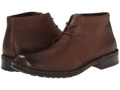 Born - Harrison (Chestnut (Dark Brown) Leather) Men's Lace-up Boots