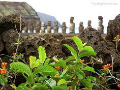 Ahu Tongariki on Rapa Nui - Easter Island Province, Chile.