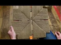 How to Weave a Rush Frame that has no Corners - YouTube