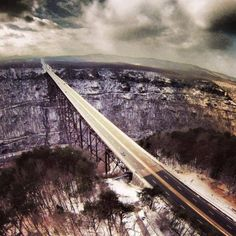 New River Gorge Bridge in West Virginia Picture taken with a drone by Tony Dill