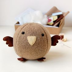 Make Your Own Sparrow Craft Kit - Sewing Kit, Activity Kit. £15.00, via Etsy.