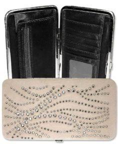Cream Beige Suede Leather Rhinestone Clutch Opera Wallet Purse Case Choosy Shopper. $16.95