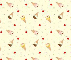 Ice Cream Bears fabric by marcelinesmith on Spoonflower - custom fabric