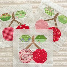 pie cherry block | really like Pam Kitty's fabric selections ~