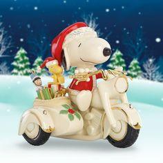 PEANUTS™ Snoopy on Motorcycle Figurine by Lenox #fancy