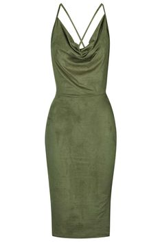 Photo 1 of **Faux Suede Cowl Neck Dress by Rare