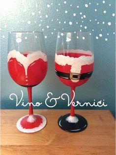 Mr. & Mrs. Claus Wine Glass, Vino & Vernici