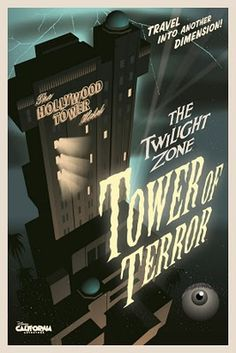Disney Attraction poster - Tower of Terror