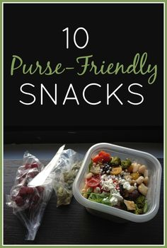 There's nothing like keeping healthy, delicious snacks in your purse when you want to be prepared!