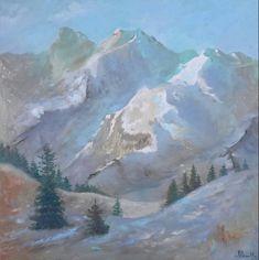 """Mountan"" Oil on canvas. Size 60*60 cm"