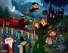 Find images and videos about harry potter, hogwarts and hermione on We Heart It - the app to get lost in what you love. Fanart Harry Potter, Harry Potter World, Images Harry Potter, Harry Potter Comics, Mundo Harry Potter, Harry Potter Cartoon, Cute Harry Potter, Harry Potter Drawings, Harry Potter Wallpaper