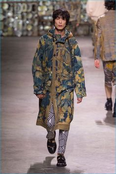 Art meets function as Dries Van Noten delivers a picture-perfect parka for spring-summer 2017.