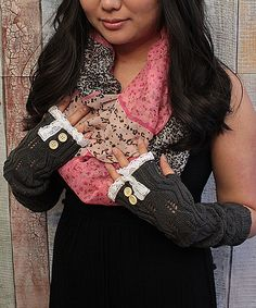 Another great find on #zulily! Dark Gray Pointelle Arm Warmers by Wild Apple Orchard #zulilyfinds
