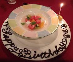 カーブドッチ ヴィネスパ ガーデンレストランの「誕生日デザート」 新潟市