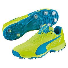Puma #evospeed 1.4 #cricket spiked shoes #yellow,  View more on the LINK: http://www.zeppy.io/product/gb/2/322208303919/