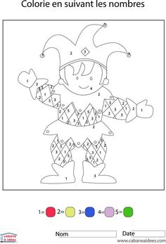 Gabarit Coloriage Magique Arlequin Childhood And Education