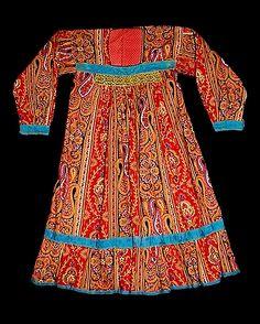 Россия.Рубаха женская.Лен,ситец.Вторая половина 19 века