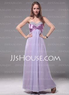 Evening Dresses - $127.49 - Empire Sweetheart Floor-Length Chiffon Charmeuse Evening Dress With Ruffle Beading (017012110) http://jjshouse.com/Empire-Sweetheart-Floor-Length-Chiffon-Charmeuse-Evening-Dress-With-Ruffle-Beading-017012110-g12110