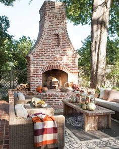 Awesome Outdoor Fireplace Decor 39 The Best Backyard Fireplace Design That You Must Have outdoor Outdoor Fireplace Patio, Outdoor Fireplace Designs, Outdoor Fireplaces, Fireplace Ideas, Fireplace On Porch, Stone Fireplaces, Fireplace Remodel, Outdoor Living Rooms, Outdoor Spaces