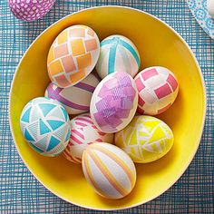 What a great use for Washi tape. Use it to decorate your Easter Eggs.