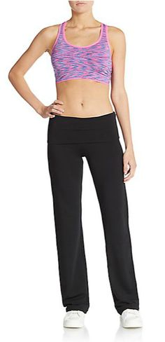 MARC NEW YORK By ANDREW MARC Performance | Space Dyed Cutout Sports Bra | SAKS OFF 5TH
