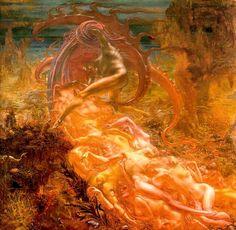 Satan's Treasures (1895) - Jean Delville
