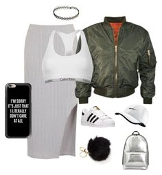 """Too cool to care"" by alexannaloro on Polyvore featuring adidas, Calvin Klein, NIKE, 3.1 Phillip Lim and Casetify"