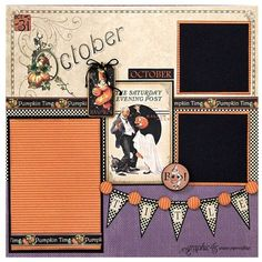 Try this Place in Time October layout with a printable project sheet #graphic45 #projectsheets #tutorials