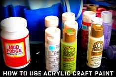 How to use acrylic craft paint - 8 tips!! #DIY