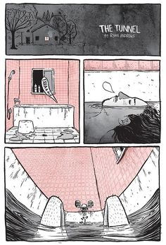 Creative Comic Strip: The Tunnel by Ryan Andrews / Graustufen und eine weitere…